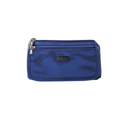Cosmetic Bag Blue & Silver (R23676B)